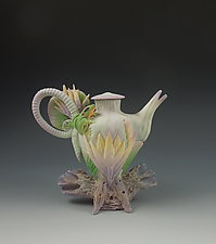 Mini Lotus Tea by Nancy Y. Adams (Ceramic Teapot)