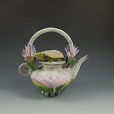 Turtle Lotus Tea by Nancy Y. Adams (Ceramic Teapot)