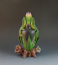 Two Lizard Perfume II by Nancy Y. Adams (Ceramic Perfume Bottle)