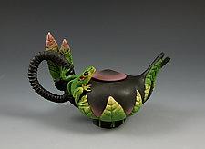 Mini Frog Teapot by Nancy Y. Adams (Ceramic Teapot)