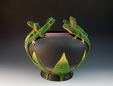 Seven Lizard Vessel by Nancy Y. Adams (Ceramic Vessel)