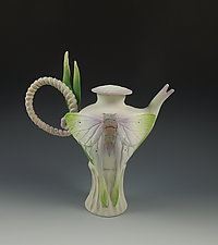 Luna Moth Tea by Nancy Y. Adams (Ceramic Teapot)