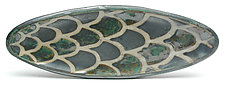 Oval Tray with Feet 1 by Peter Karner (Ceramic Tray)