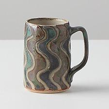 Medium Squiggle Mug by Peter Karner (Ceramic Mug)