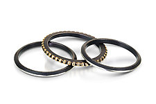 Gold Dots Ring Set by Chihiro Makio (Gold & Silver Rings)