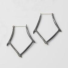 Bamboo Hoop by Dahlia Kanner (Silver Earrings)