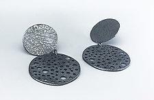 Pierced Bottom Drop Earrings by Dahlia Kanner (Silver Earrings)