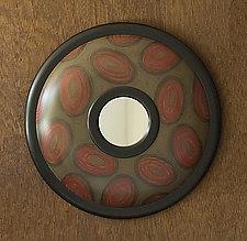 Scribble Oculus Mirror by Kimberly D. Winkle (Wood Mirror)