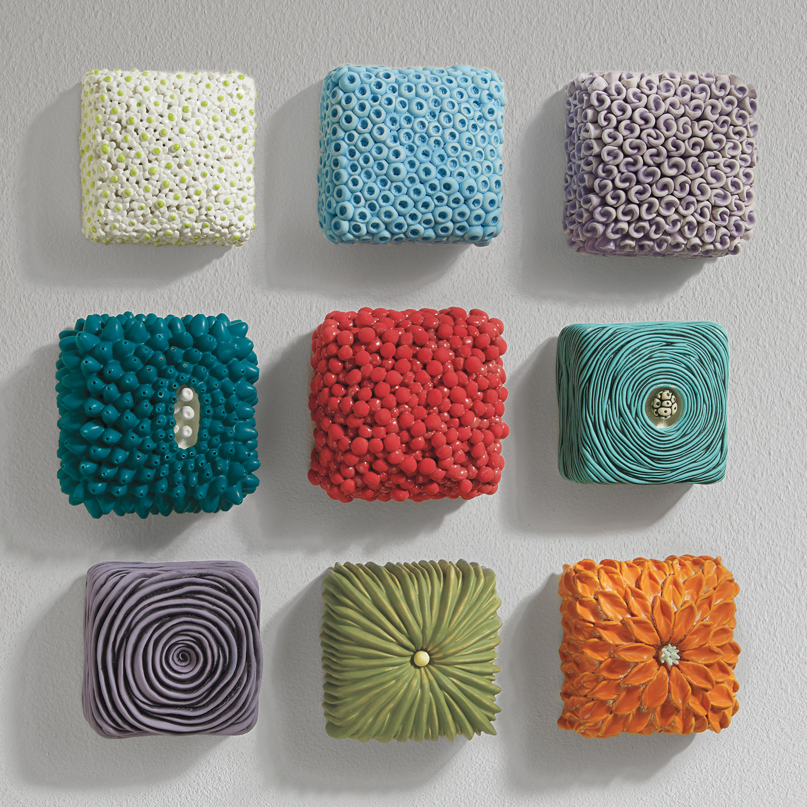 Textured Wall Boxes By Rachelle Miller Ceramic Wall Sculpture Artful Home
