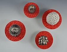 Stonecrop Sculptures by Rachelle Miller (Ceramic Wall Sculpture)