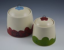 Playful Covered Jars by Rachelle Miller (Ceramic Jars)