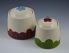 Playful Covered Jars by Rachelle Miller (Ceramic Jars)