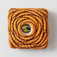 Textured Wall Boxes II by Rachelle Miller (Ceramic Wall Sculpture)