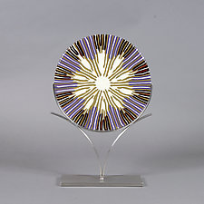 Lavender Fields by Caryn Brown (Art Glass Sculpture)