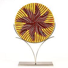 Waiting on a Summer Breeze by Caryn Brown (Art Glass Sculpture)