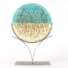 Playing in the Dune Grass by Caryn Brown (Art Glass Sculpture)