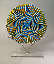Waiting on a Summer Breeze by Caryn Brown (Art Glass Sculpture)