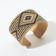 Astrid Glass Cuff by ETKIE (Beaded Bracelet)