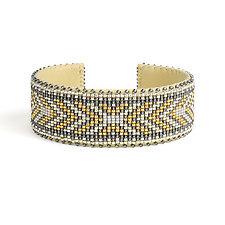 Andrea Glass Cuff by ETKIE (Beaded Bracelet)