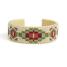 Becca Glass Cuff by ETKIE (Beaded Bracelet)