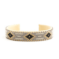 Dawn Glass Cuff by ETKIE (Beaded Bracelet)