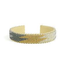 Drew Glass Cuff by ETKIE (Beaded Bracelet)