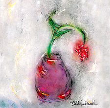 Red Star in a Purple Vase by Roberta Ann Busard (Giclee Print)