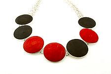 Code Break Necklace by Ayala Naphtali (Silver & Wood Necklace)