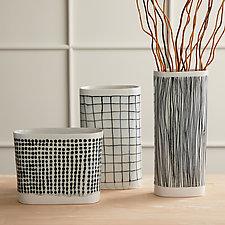Stria Series Vases by Lauren Herzak-Bauman (Ceramic Vase)