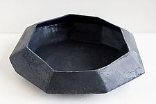 Jet Black Stone Bowl by Lauren Herzak-Bauman (Ceramic Bowl)