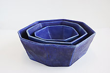 Azul Formation Bowl by Lauren Herzak-Bauman (Ceramic Bowl)