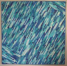 Cascading Blue by Judith Larzelere (Fiber Wall Hanging)