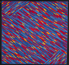 Luminosity in Primary Colors by Judith Larzelere (Fiber Wall Hanging)