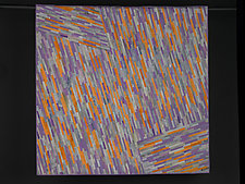 Gray, Peach, and Lavender by Judith Larzelere (Fiber Wall Hanging)