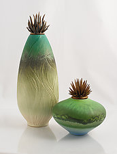 Tourmaline Ponds by Natalie Blake (Ceramic Sculpture)