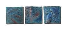 Rain Carved Peaks by Natalie Blake (Ceramic Wall Sculpture)