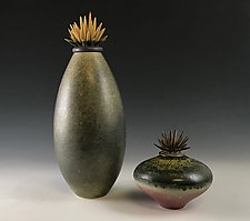 Meadow Lands Vessels by Natalie Blake (Ceramic Vessel)