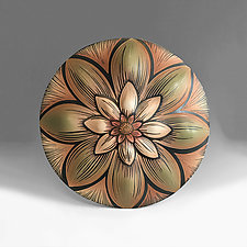 Dahlia Mandala by Natalie Blake (Ceramic Wall Sculpture)