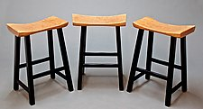 Solid Cherry Bar/Counter Stools by Dave Lasker (Wood Stool)