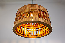 Roundhouse Chandelier by Ted Lott (Wood Chandelier)