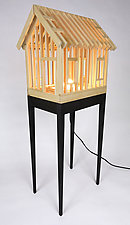 Highwater Table Lamp by Ted Lott (Wood Table Lamp)