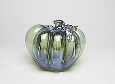 Introspection Pumpkin by Hannah Nicholson & Alana van Altena (Art Glass Sculpture)