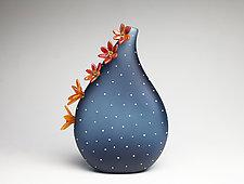 Midnight Bloom by Hannah Nicholson & Alana van Altena (Art Glass Sculpture)