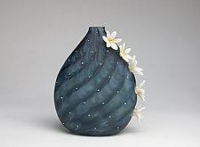 Evening Bloom by Hannah Nicholson & Alana van Altena (Art Glass Sculpture)