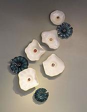 Reflections of Giverny by Hannah Nicholson & Alana van Altena (Art Glass Wall Sculpture)