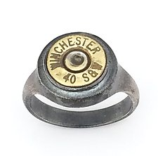 Peace Fire Winchester 40 S&W by Alexan Cerna and Gina  Tackett (Silver & Brass Ring)