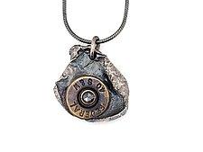 Peace Fire Black Diamond Necklace by Alexan Cerna and Gina  Tackett (Brass & Stone Necklace)