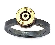 Peace Fire FC 10 by Alexan Cerna and Gina  Tackett (Silver & Brass Ring)