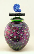 Large Amethyst Wishkeeper by Ken Hanson and Ingrid Hanson (Art Glass Vessel)