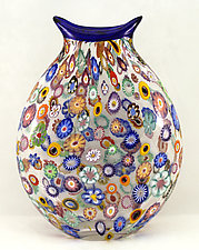 Large Impressionist Vase by Ken Hanson and Ingrid Hanson (Art Glass Vase)